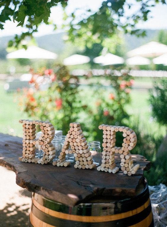 Diy wine cork letters