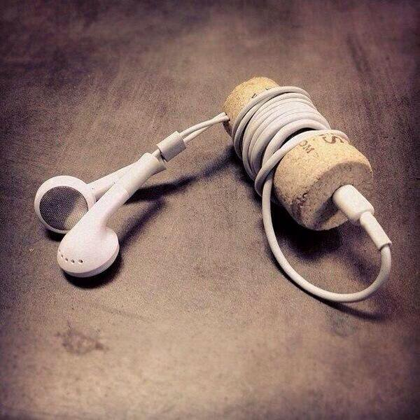Headphone cork gadget