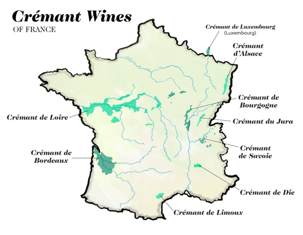 Crémant wines of France