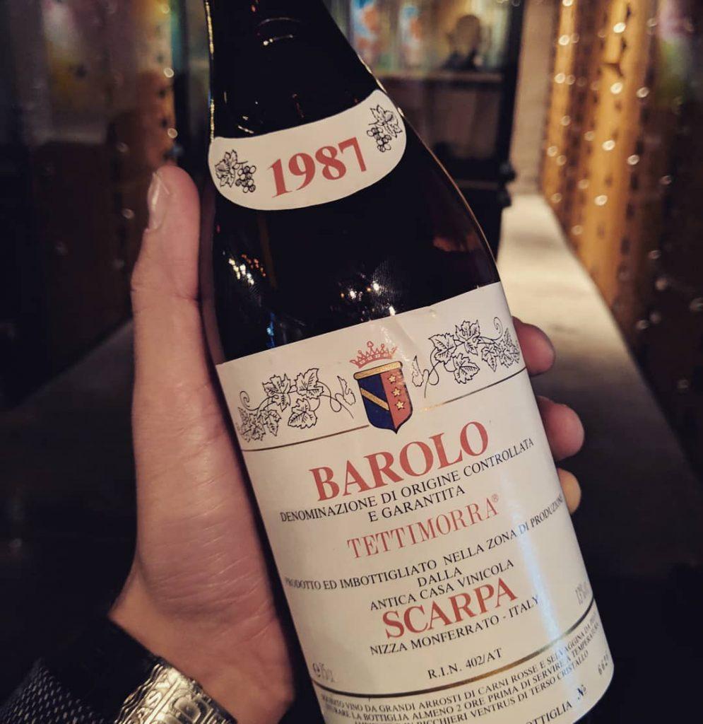 Barolo Tettimorra DOCG by Scarpa 1987
